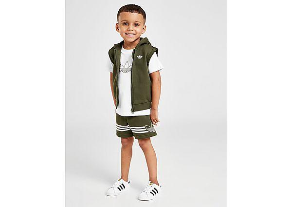 Adidas Originals Sport Three Piece T-Shirt/Shorts Set Baby's - Green/White - Kind