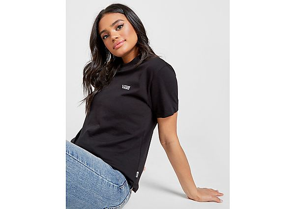 Ropa deportiva Mujer Vans camiseta Core Small Logo, Black