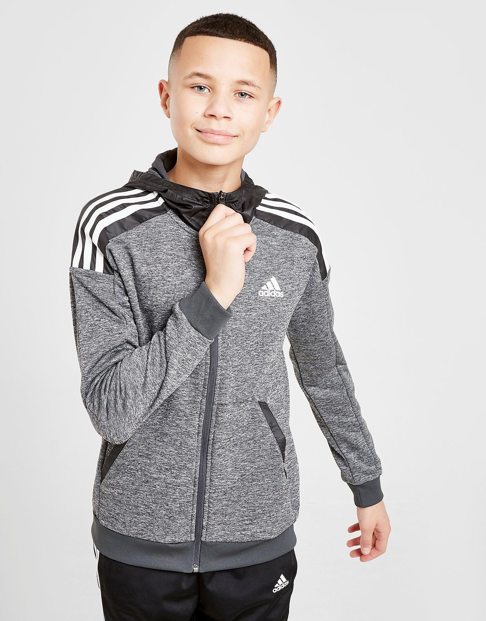 adidas Match Full Zip Hoodie Junior alleen bij JD Grijs Kind Grijs