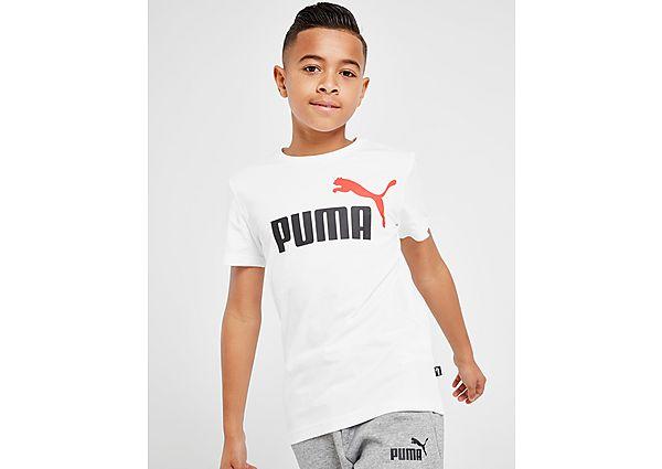 Comprar Ropa deportiva para niños online Puma camiseta Essential Logo júnior, White/Black/Red