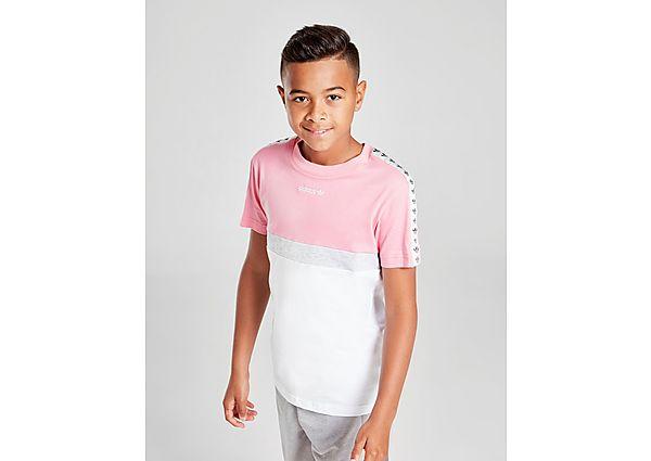 Adidas Originals Colour Block Tape T-Shirt Junior - Pink - Kind