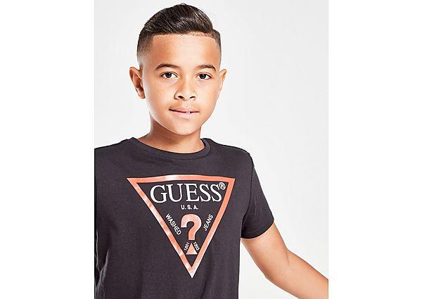 Comprar Ropa deportiva para niños online GUESS camiseta Triangle Logo júnior, Black
