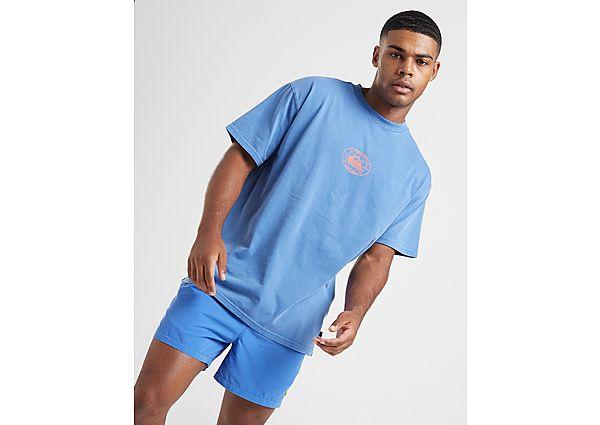 Quiksilver Globe T Shirt Heren Blue Heren, Blue