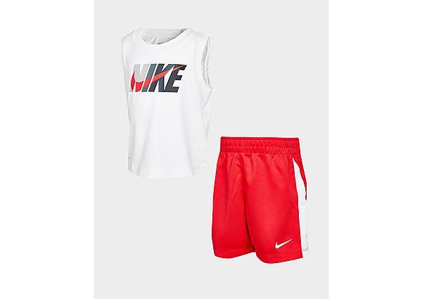 Nike Tanktop/Shorts Set Baby's - White/Red - Kind