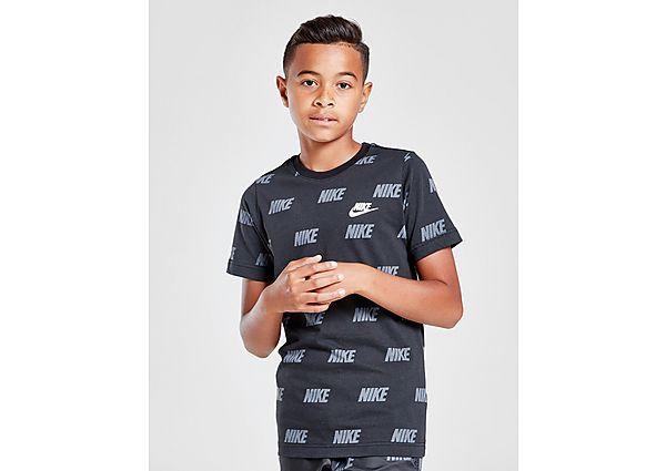 Nike Hybrid All Over Print T-Shirt Junior - Black/Grey - Kind
