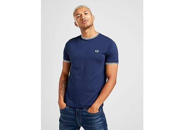 Fred Perry camiseta Twin Tipped, Blue/Blue