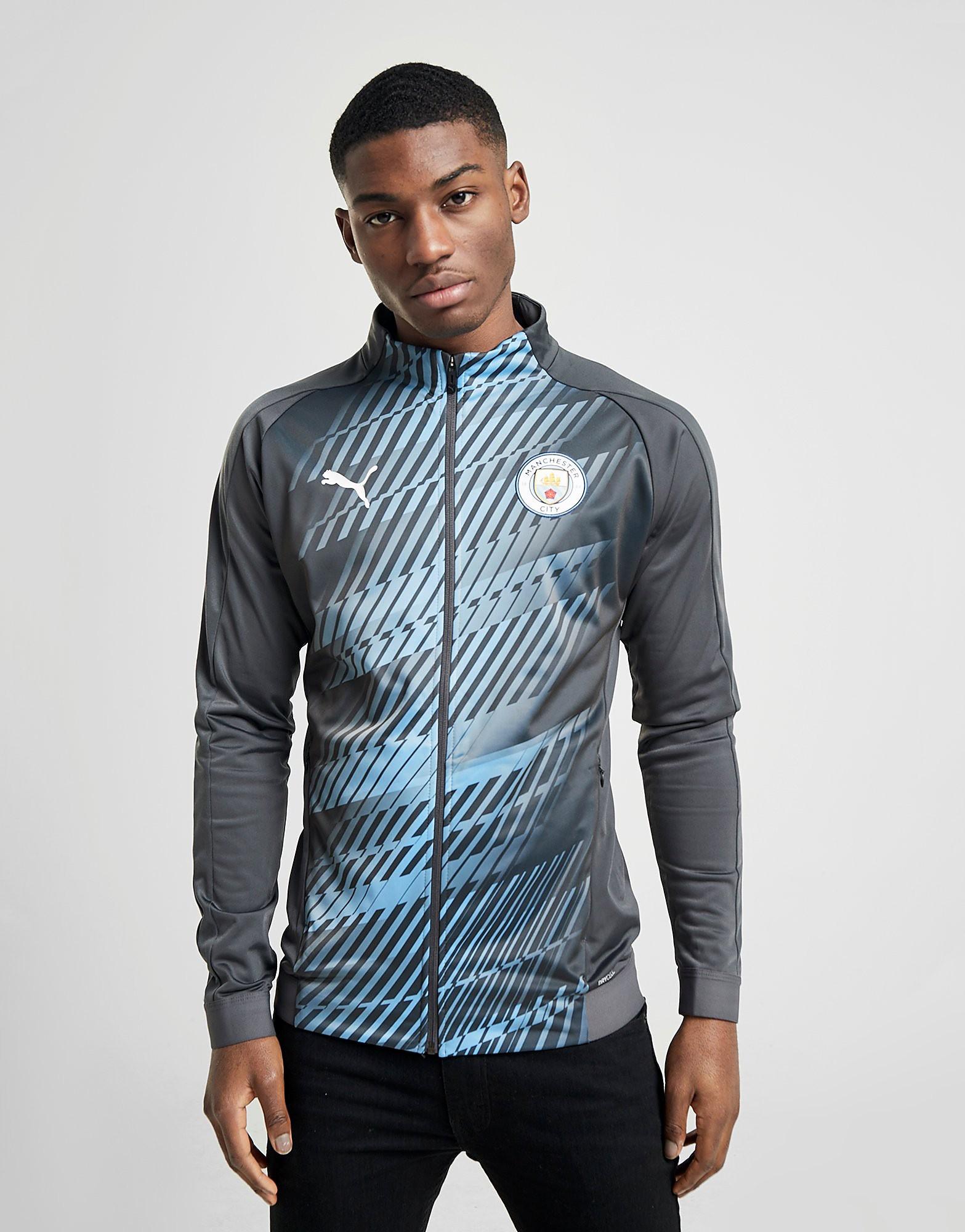 PUMA Manchester City FC Stadium Jacket Heren Grijs Heren Grijs