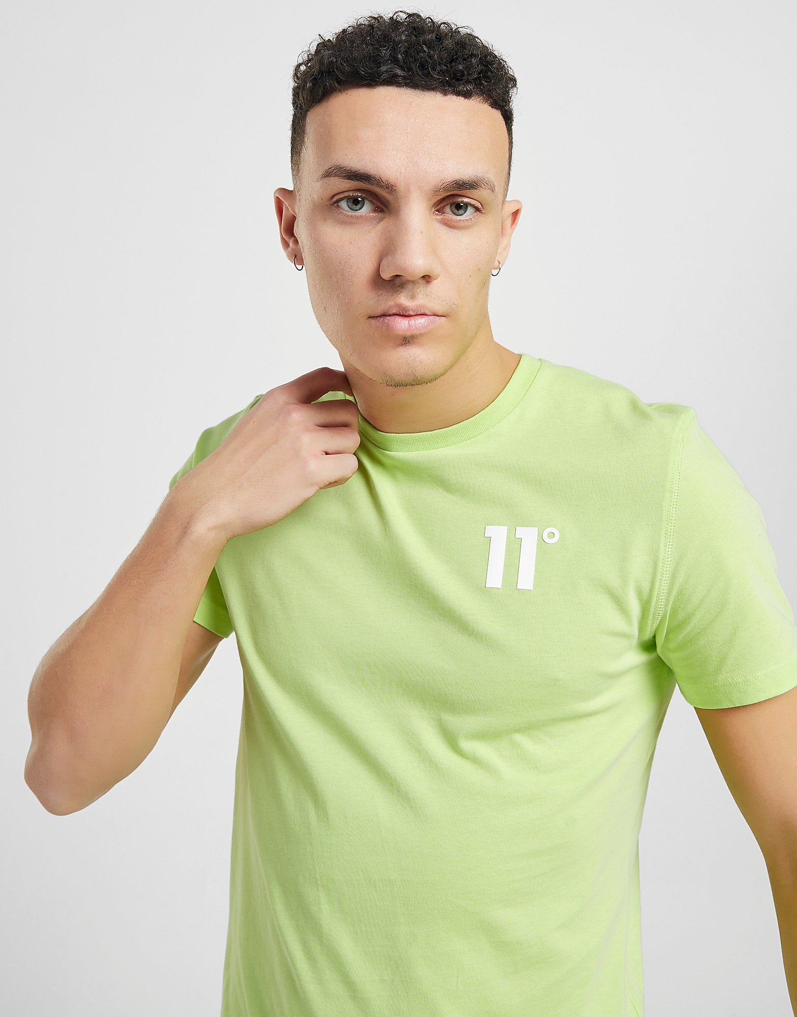11 degrees core small logo t-shirt - only at jd, grön