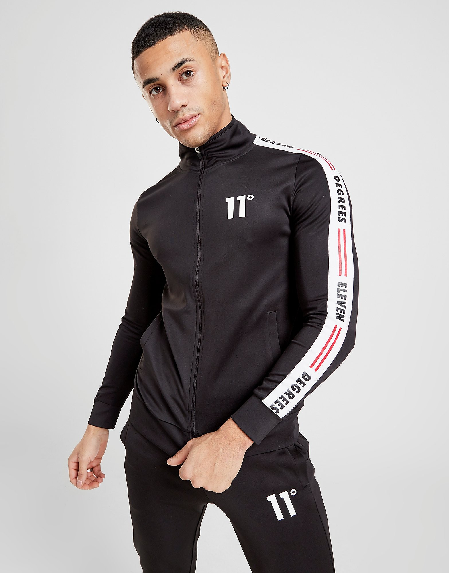 11 Degrees Poly Tape Track Top