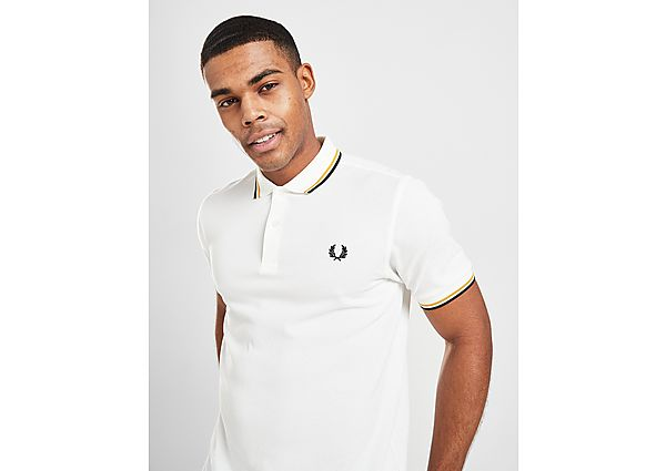 Fred Perry polo Twin Tipped, White/Gold/Black