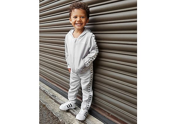 Adidas Originals SS Tape Trainingspak Baby's  - Grey - Kind