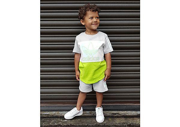 Adidas Originals Spirit T-Short/Shorts Set Baby's - Grey/White/Yellow - Kind