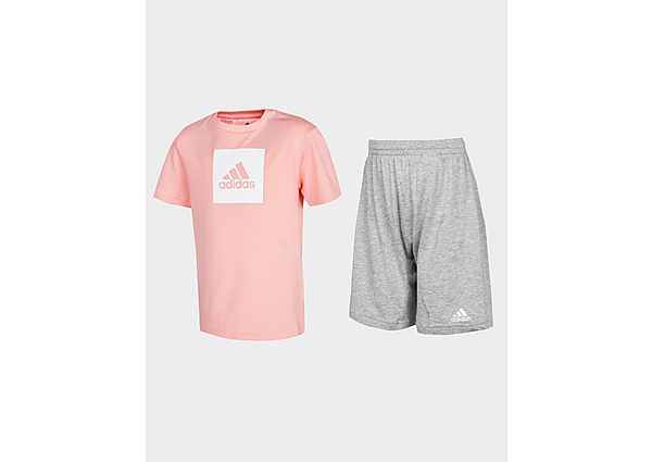 Adidas performance Girls' Badge of Sport T-Shirt/Shorts Set Baby's  - Pink - Kind