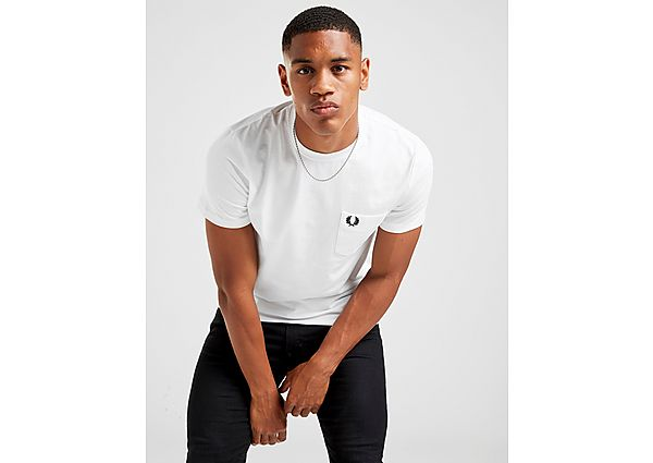 Fred Perry camiseta Core Pocket, White