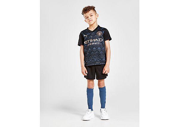 Puma conjunto Manchester City FC 2020/21 2. ª equipación infantil, Black/Blue