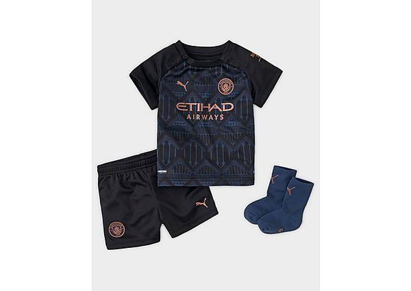 Puma conjunto Manchester City FC 2020/21 2. ª equipación para bebé, Black/Blue