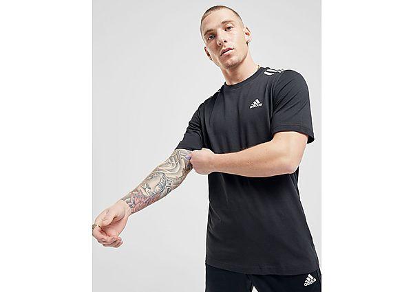 adidas camiseta Badge of Sport 3-Stripes, Black/White