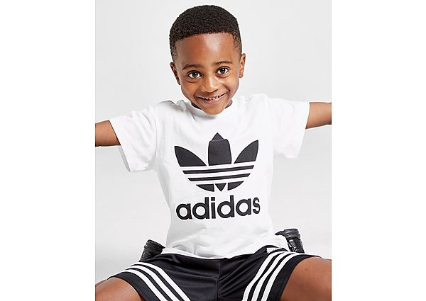 Adidas Originals Trefoil T-Shirt Kinderen - White / Black/Black - Kind