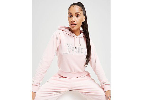 Ropa deportiva Mujer JUICY COUTURE sudadera con capucha Diamante Logo Velour, Pink