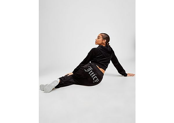Ropa deportiva Mujer JUICY COUTURE pantalón de chándal Diamante Velour, Black