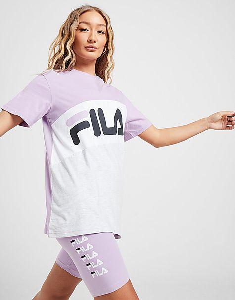 t-shirt boyfriend colour block femme