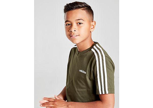 Comprar Ropa deportiva para niños online adidas camiseta 3-Stripe, Green/White