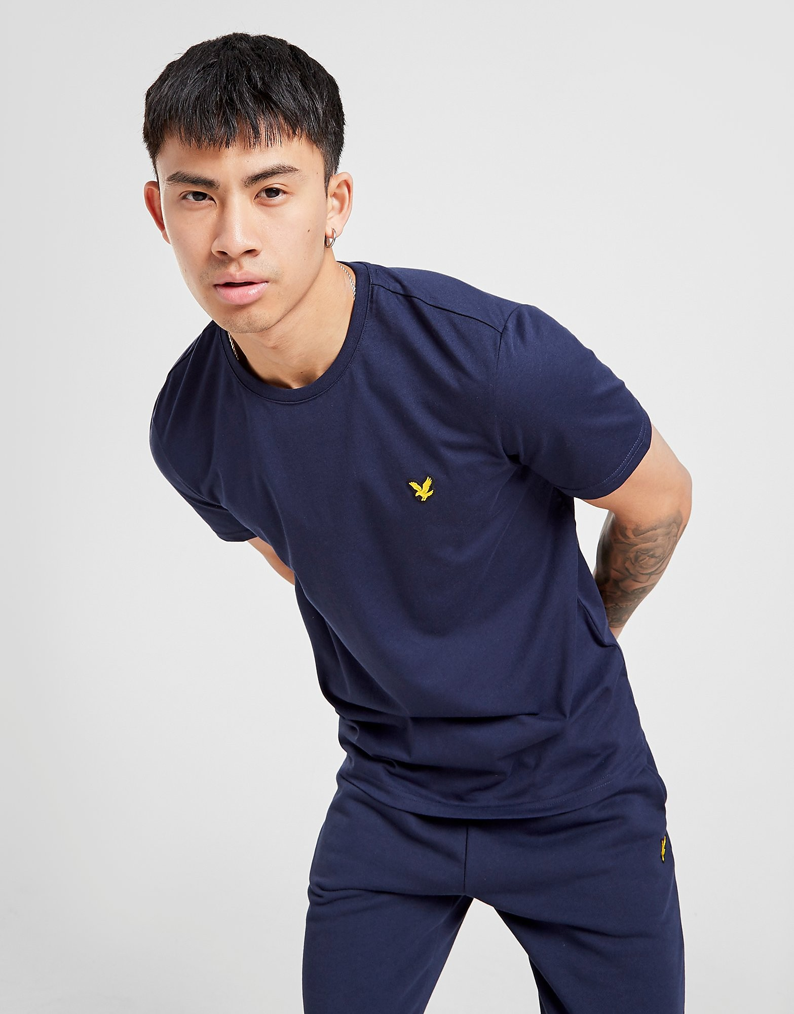 Lyle and Scott Sport Poly T-Shirt Heren Blauw Heren Blauw