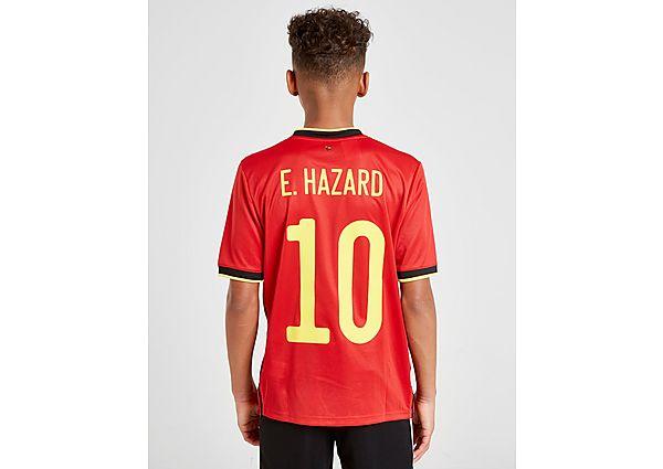 adidas camiseta selección de Bélgica 2020 Hazard #10 1. ª equipación júnior, Red/Black