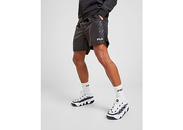 Fila Danny All Over Print Zwem Shorts Heren - Black - Heren