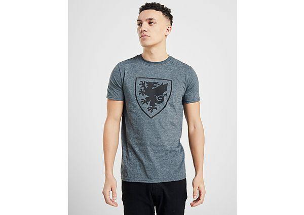 Official Team camiseta Crest selección de Gales, Grey/Black