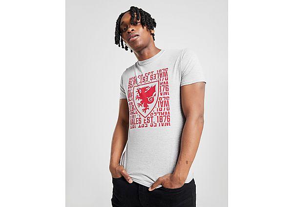 Official Team camiseta 1876 selección de Gales, Grey/Red