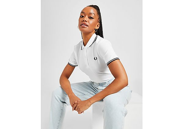 Ropa deportiva Mujer Fred Perry polo Twin Tip, White
