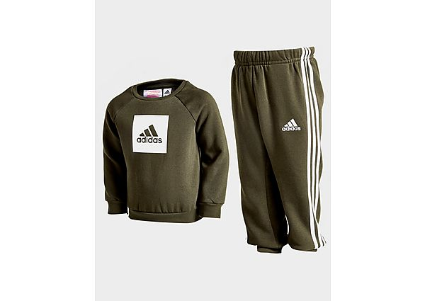 Adidas Badge of Sport Tracksuit Infant  - Green/White - Kind