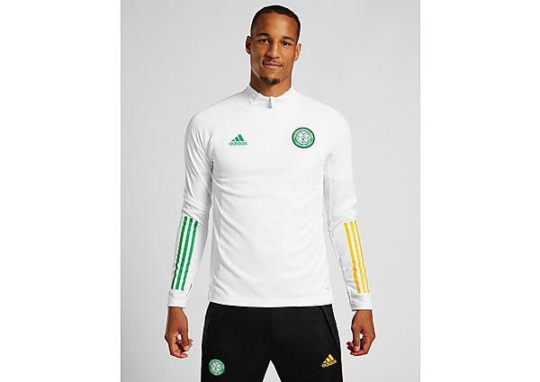 adidas Celtic FC Training 1/4 Zip Top (RESERVA), White