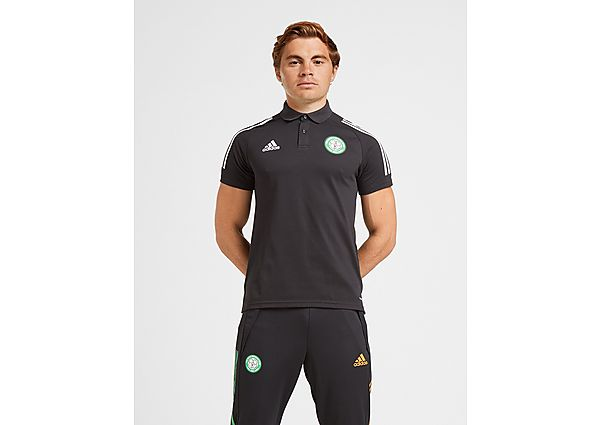 adidas Celtic FC Polo Shirt (RESERVA), Black
