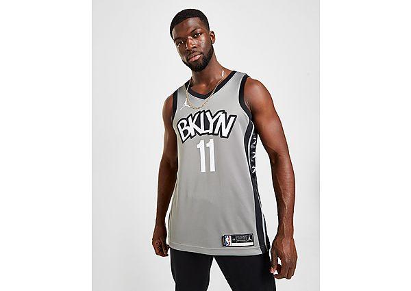 Jordan NBA Brooklyn Nets Irving # 11 Swingman Jersey - Dark Steel Grey/Black - Heren, Dark Steel Grey/Black