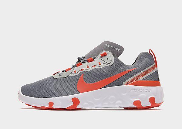 Nike Renew Element 55 Junior - Smoke Grey/Grey Fog/Light Smoke Grey/Team Orange - Kind, Smoke Grey/Grey Fog/Light Smoke Grey/Team Orange