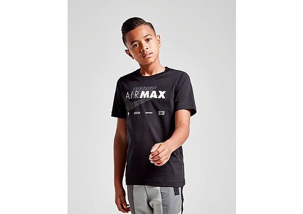 Comprar Ropa deportiva para niños online Nike camiseta Air Max júnior, Black
