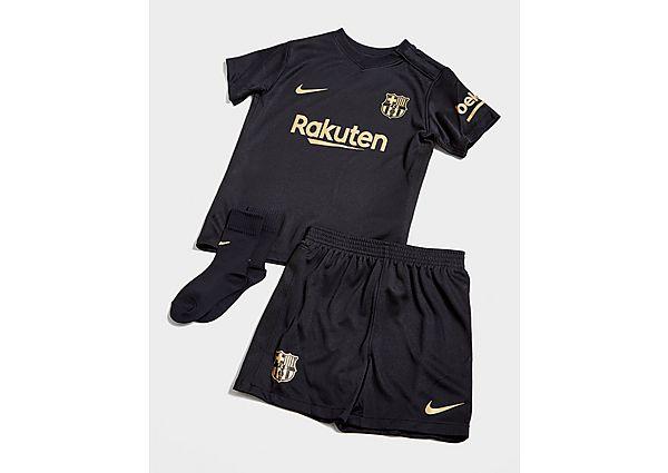 Nike conjunto FC Barcelona 2020/21 2.ª equipación para bebé, Black/Gold