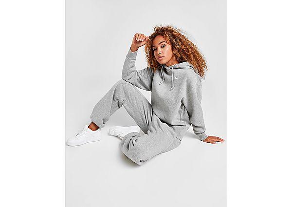 Ropa deportiva Mujer Nike sudadera con capucha Fleece, Grey