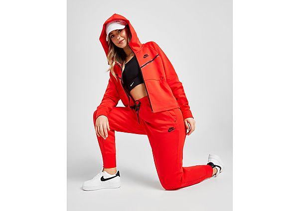 Nike Tech Fleece Joggingbroek Dames - Chile Red/Black - Dames