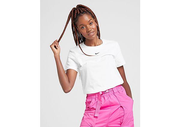 Ropa deportiva Mujer Nike camiseta Essential Slim, White/Black