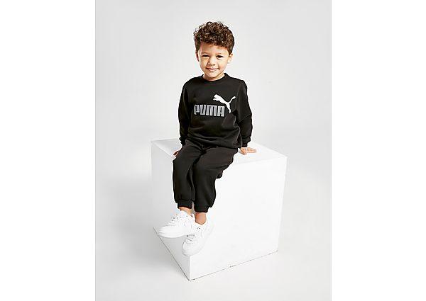 Puma Core Logo Crew Tracksuit Infant  - Black/Grey - Kind