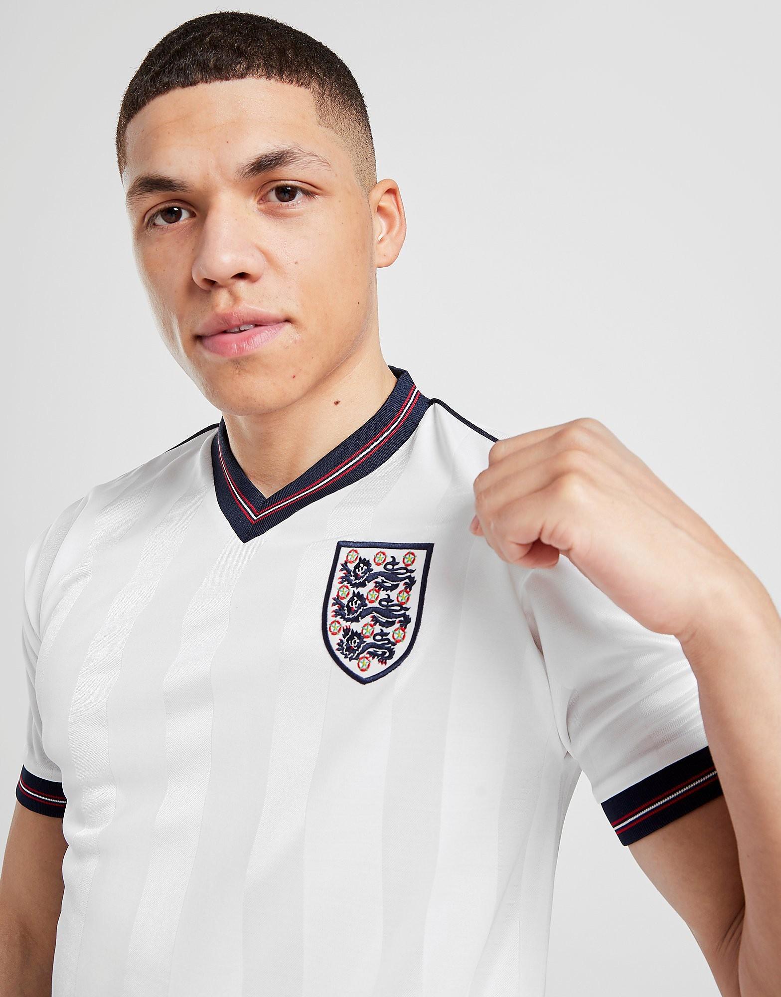 Score Draw England '86 World Cup Retro Hemmatröja Herr, Vit