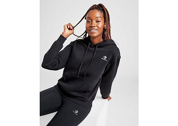 Ropa deportiva Mujer Converse sudadera con capucha Chevron, Black/White