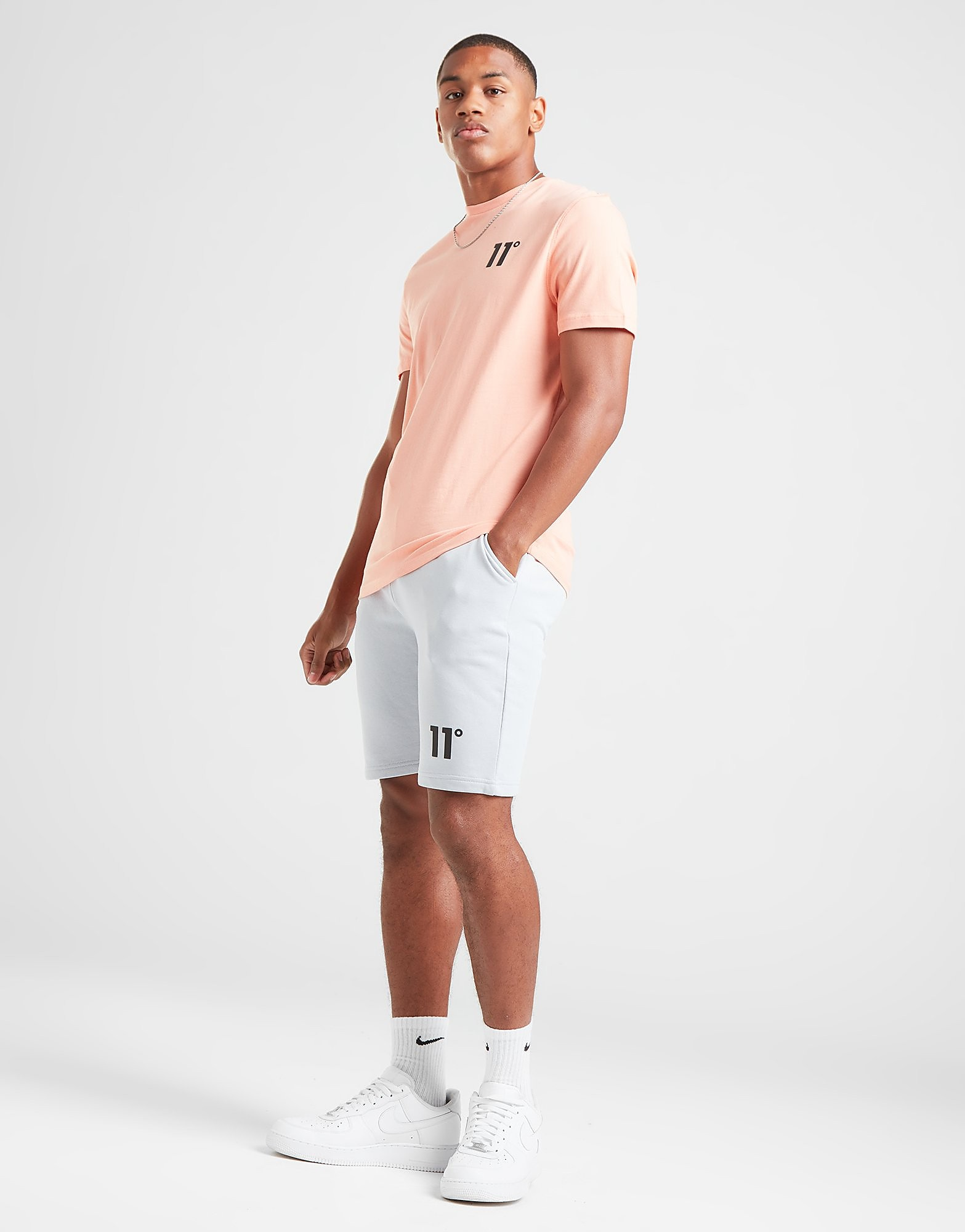 11 degrees jersey shorts herr - only at jd, grå