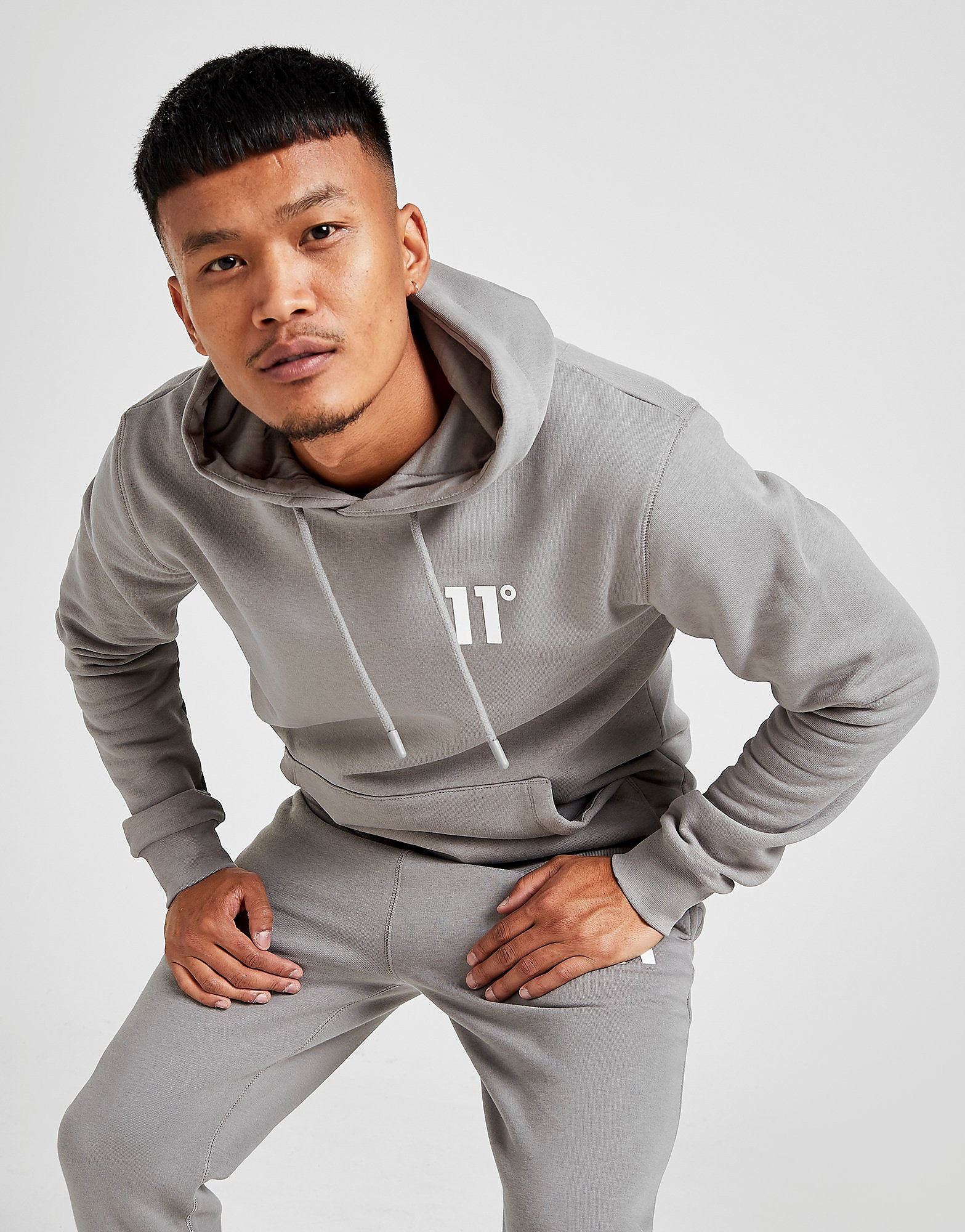 11 degrees core overhead hoodie men's - only at jd, silver
