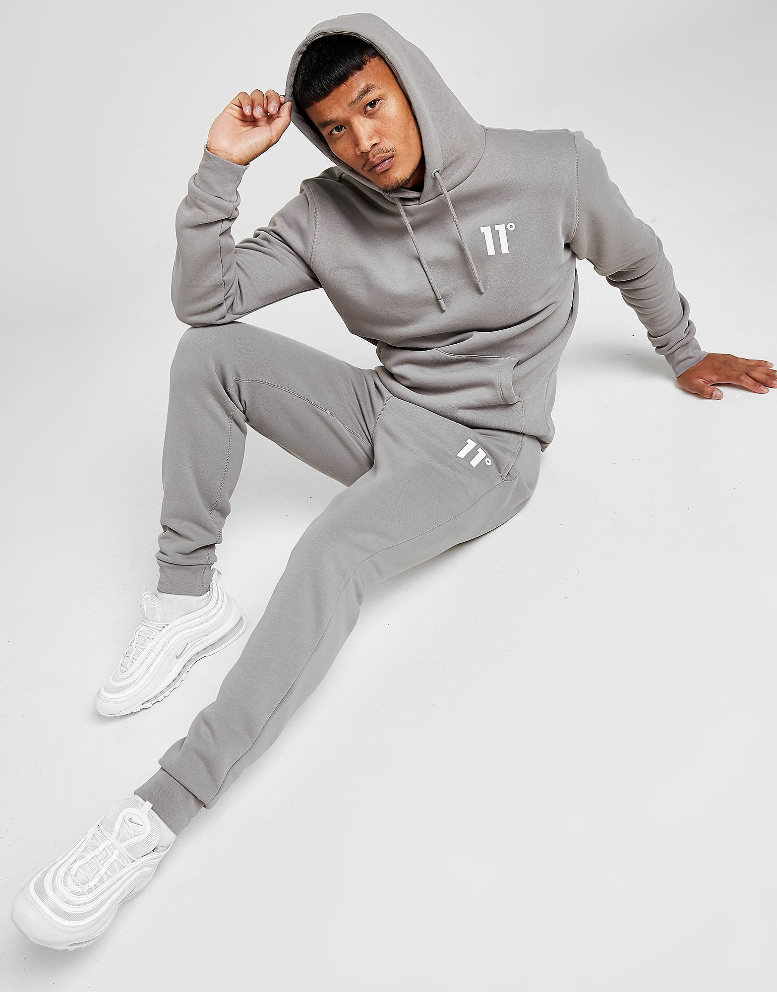 11 degrees core joggers men's - only at jd, grå