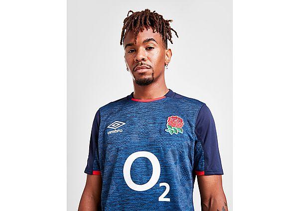 Umbro England RFU 2020/21 Away Shirt, Blue/Red