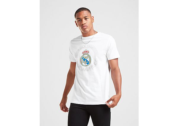 Official Team camiseta Real Madrid Crest Short Sleeve, White